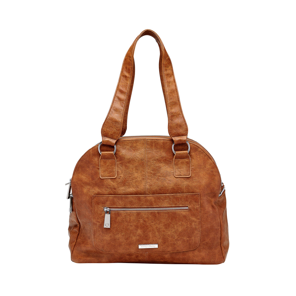The Carry-All Nappy Bag in Tan | Livvy + Harry