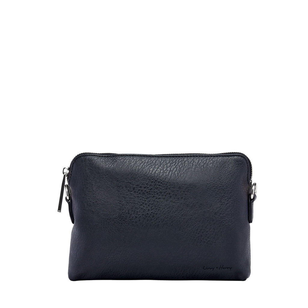 Nappy Clutch in Black (Silver) | Livvy + Harry