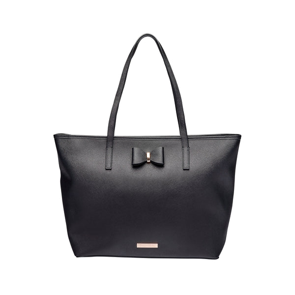 Leather Tote Nappy Bag Black | Livvy + Harry