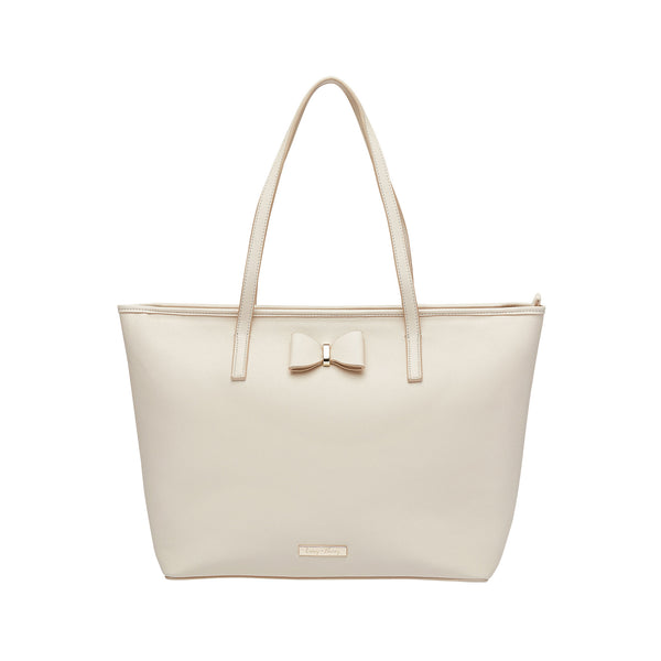 Leather Tote Nappy Bag in Cream | Livvy + Harry