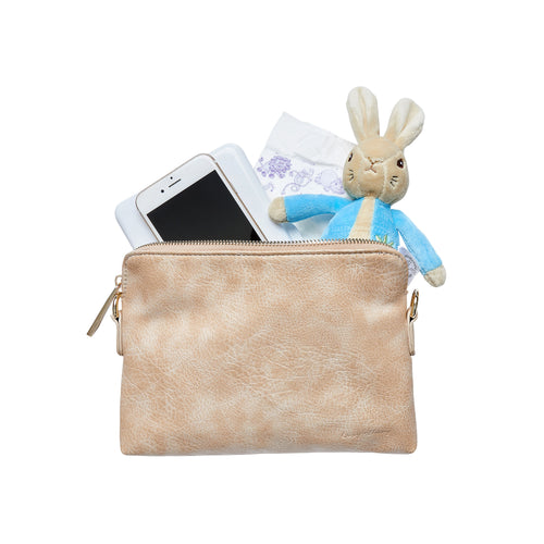 Nappy Clutch in Beige Cream