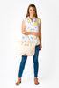 SECOND (Minor Imperfections) - Leather Tote Nappy Bag in Cream | SECOND (Minor Imperfections) - Leather Tote Nappy Bag in Cream | Livvy + Harry | Livvy + Harry