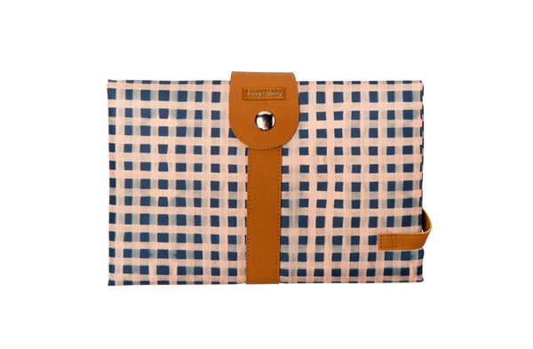 PRE-ORDER - Travel Baby Change Mat Classic Gingham | Livvy + Harry
