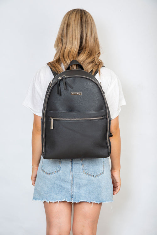 The Marseille Baby Backpack in Black
