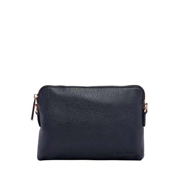 Nappy Clutch in Black (Rose Gold) | Livvy + Harry