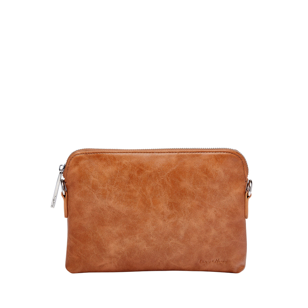 Nappy Clutch in Tan | Livvy + Harry