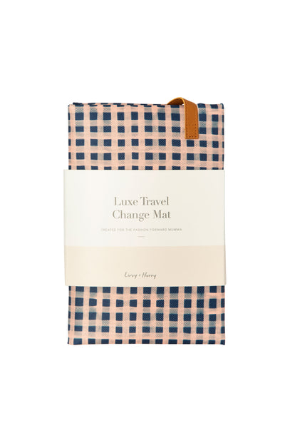 Travel Baby Change Mat Classic Gingham  - PRE ORDER | Livvy + Harry