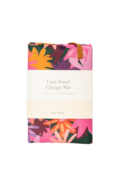 Travel Baby Change Mat Colourpop Floral - PRE-ORDER | Livvy + Harry