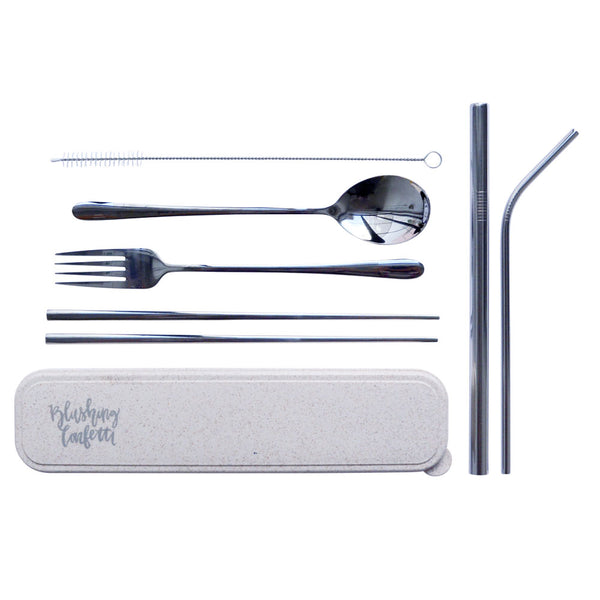 Take Me Away Cutlery Kit - Silver | Livvy + Harry
