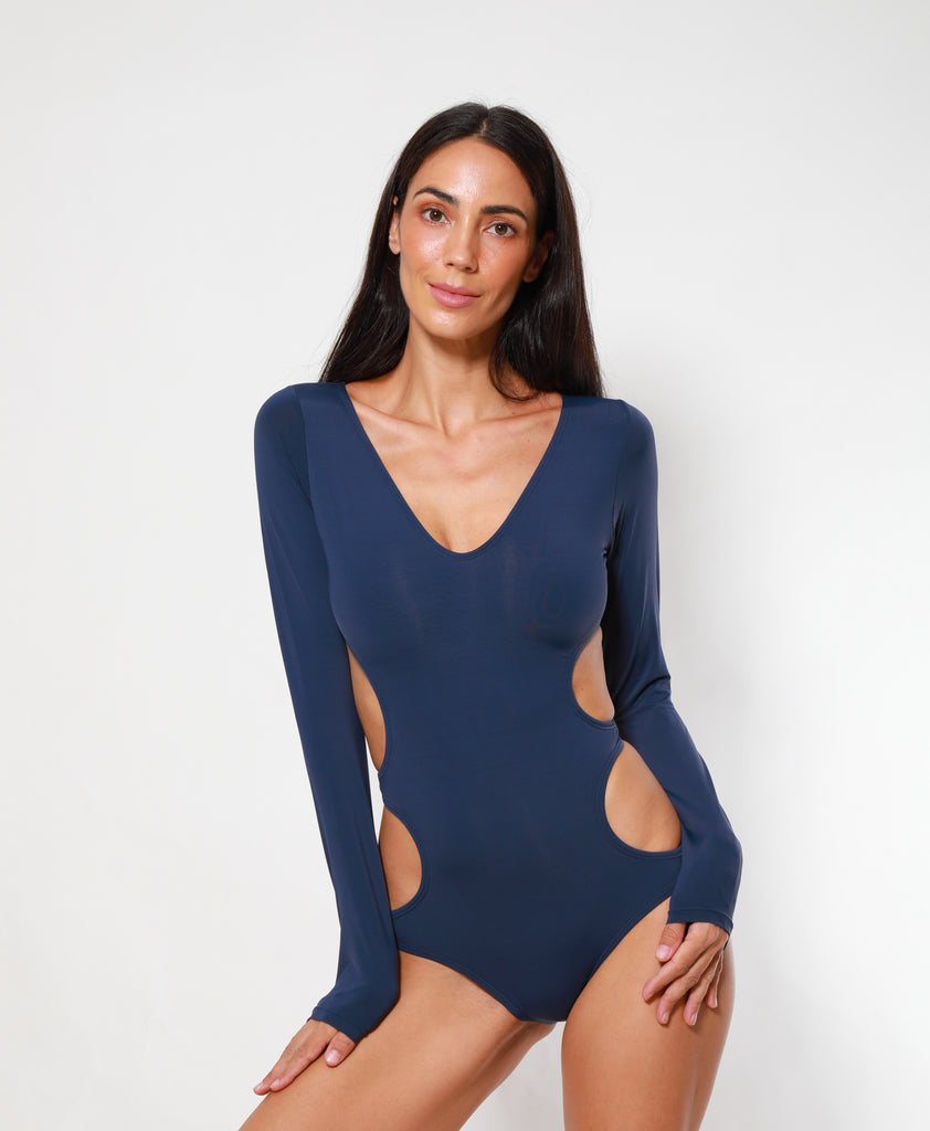 CUT OUT Maillot NAVY BLUE