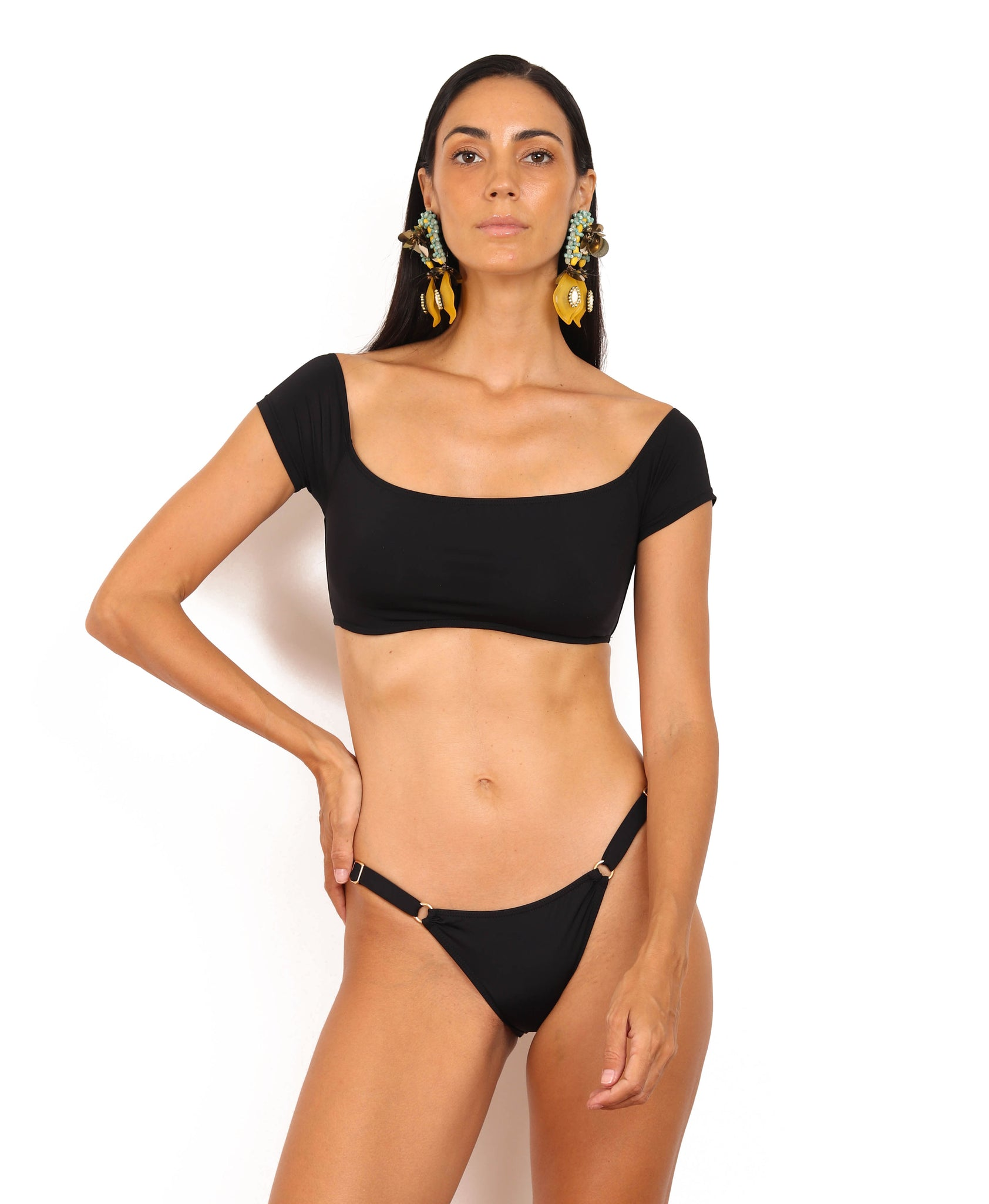 CARLOTA Top BLACK - swimwear online philippines
