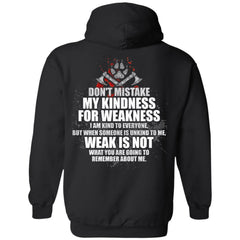 A VIKING BACKApparel[Heathen By Nature authentic Viking products]Unisex Pullover HoodieBlackS
