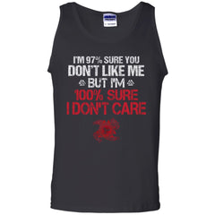 A Viking, Norse, Gym t-shirt & apparel, I'm 97% sure you don't like me, FrontApparel[Heathen By Nature authentic Viking products]Cotton Tank TopBlackS