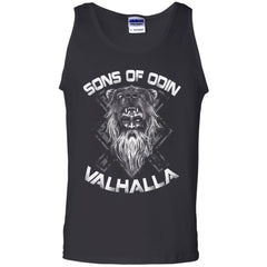 A Viking, Norse, Gym t-shirt & apparel, Sons of Odin, FrontApparel[Heathen By Nature authentic Viking products]Cotton Tank TopBlackS
