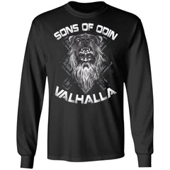 A Viking, Norse, Gym t-shirt & apparel, Sons of Odin, FrontApparel[Heathen By Nature authentic Viking products]Long-Sleeve Ultra Cotton T-ShirtBlackS
