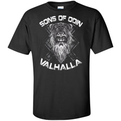 A Viking, Norse, Gym t-shirt & apparel, Sons of Odin, FrontApparel[Heathen By Nature authentic Viking products]Tall Ultra Cotton T-ShirtBlackXLT