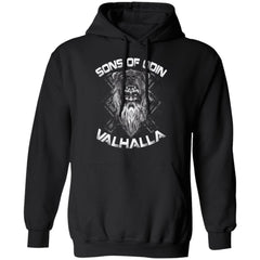 A Viking, Norse, Gym t-shirt & apparel, Sons of Odin, FrontApparel[Heathen By Nature authentic Viking products]Unisex Pullover HoodieBlackS