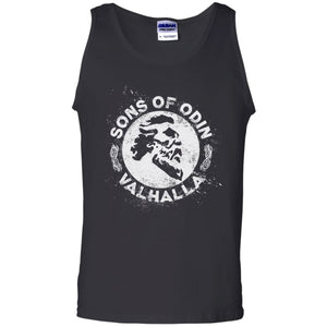 A Viking, Norse, Gym t-shirt & apparel, Sons of Odin Valhalla, FrontApparel[Heathen By Nature authentic Viking products]Cotton Tank TopBlackS