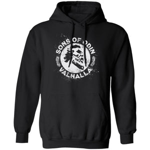 A Viking, Norse, Gym t-shirt & apparel, Sons of Odin Valhalla, FrontApparel[Heathen By Nature authentic Viking products]Unisex Pullover HoodieBlackS