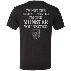American made, Double sided T-shirt, Not the hero you wantedApparel[Heathen By Nature authentic Viking products]