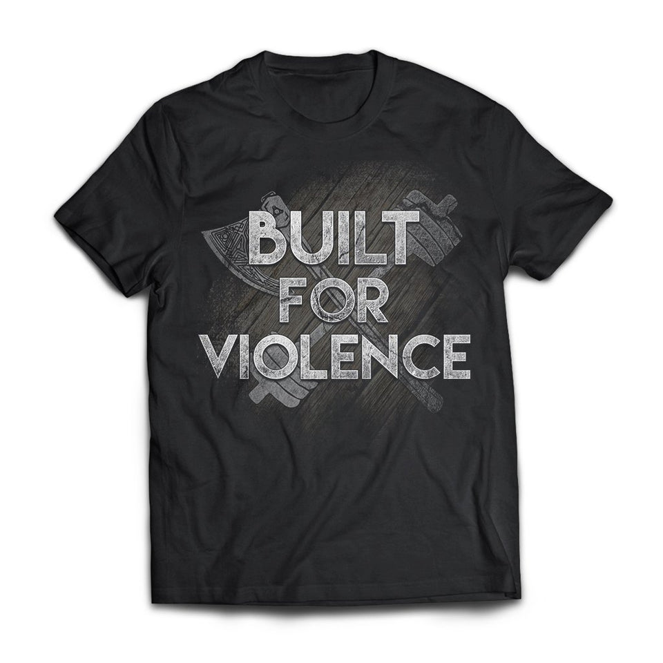 American Made, Viking, Norse, Gym t-shirt & apparel, Built for violence, FrontApparel[Heathen By Nature authentic Viking products]Next Level Men's Triblend T-ShirtVintage BlackS