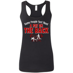 Shieldmaiden, Viking, Norse, Gym t-shirt & apparel, A Pat On The Back, FrontApparel[Heathen By Nature authentic Viking products]Ladies' Softstyle Racerback TankBlackS