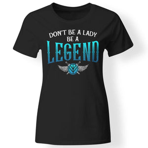 Shieldmaiden, Viking, Norse, Gym t-shirt & apparel, Be A Legend,FrontApparel[Heathen By Nature authentic Viking products]Next Level Ladies' T-ShirtBlackX-Small