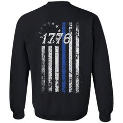 Shieldmaiden, Viking, Norse, Gym t-shirt & apparel, Betsy Ross Flag 1776, BackApparel[Heathen By Nature authentic Viking products]Unisex Crewneck Pullover SweatshirtBlackS