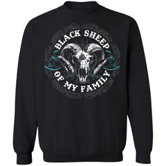 Shieldmaiden, Viking, Norse, Gym t-shirt & apparel, Black Sheep, FrontApparel[Heathen By Nature authentic Viking products]Unisex Crewneck Pullover SweatshirtBlackS