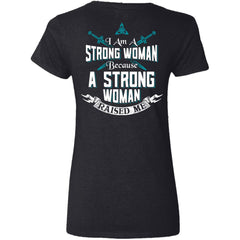 Shieldmaiden, Viking, Norse, Gym t-shirt & apparel, I am a strong woman, BackApparel[Heathen By Nature authentic Viking products]Ladies' V-Neck T-ShirtBlackS