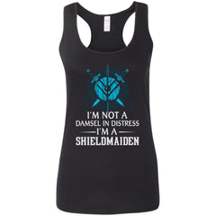 Shieldmaiden, Viking, Norse, Gym t-shirt & apparel, I'm A Shieldmaiden, FrontApparel[Heathen By Nature authentic Viking products]Ladies' Softstyle Racerback TankBlackS