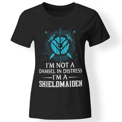 Shieldmaiden, Viking, Norse, Gym t-shirt & apparel, I'm A Shieldmaiden, FrontApparel[Heathen By Nature authentic Viking products]Ladies' T-ShirtBlackX-Small