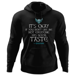 Shieldmaiden, Viking, Norse, Gym t-shirt & apparel, It's Okay, FrontApparel[Heathen By Nature authentic Viking products]Unisex Pullover HoodieBlackS