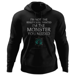 Shieldmaiden, Viking, Norse, Gym t-shirt & apparel, Monster you needed, FrontApparel[Heathen By Nature authentic Viking products]Unisex Pullover HoodieBlackS