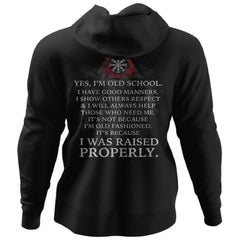 Shieldmaiden, Viking, Norse, Gym t-shirt & apparel, Old School , BackApparel[Heathen By Nature authentic Viking products]Unisex Pullover HoodieBlackS
