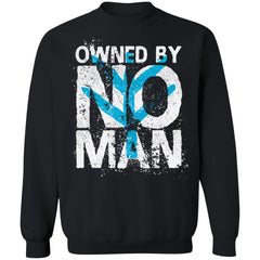 Shieldmaiden, Viking, Norse, Gym t-shirt & apparel, Owned by no man, frontApparel[Heathen By Nature authentic Viking products]Unisex Crewneck Pullover SweatshirtBlackS