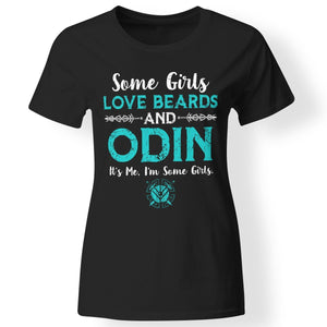 Shieldmaiden, Viking, Norse, Gym t-shirt & apparel, Some girls love beards and Odin, FrontApparel[Heathen By Nature authentic Viking products]Next Level Ladies' T-ShirtBlackX-Small