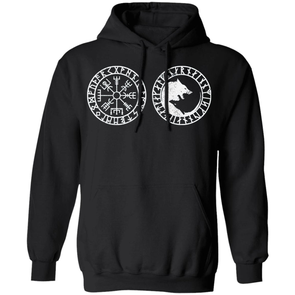 Shieldmaiden, Viking, Norse, Gym t-shirt & apparel, Vegvisir, FrontApparel[Heathen By Nature authentic Viking products]Unisex Pullover HoodieBlackS