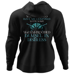 Shieldmaiden, Viking, Norse, Gym t-shirt & apparel, You seem to have me confused, BackApparel[Heathen By Nature authentic Viking products]Unisex Pullover HoodieBlackS