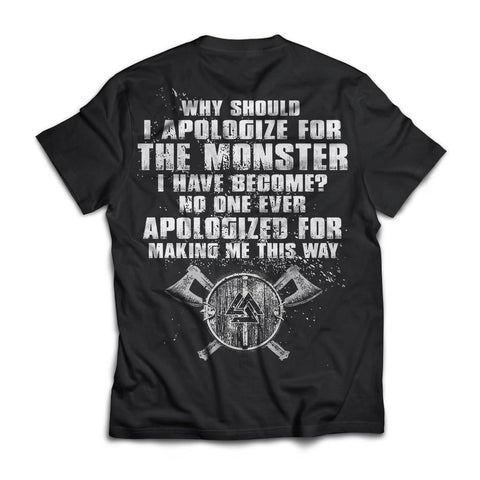 T-shirt, Viking, ApologizeApparel[Heathen By Nature authentic Viking products]Next Level Premium Short Sleeve T-ShirtBlackX-Small