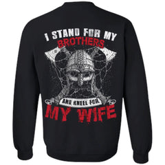 T-shirt, Wife, Viking, BackApparel[Heathen By Nature authentic Viking products]Unisex Crewneck Pullover SweatshirtBlackS