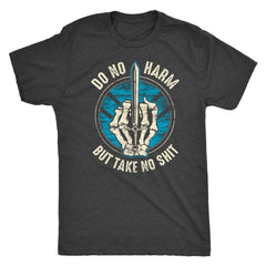 Teelaunch, Do no harm, FrontT-shirt[Heathen By Nature authentic Viking products]Next Level Mens TriblendVintage BlackS