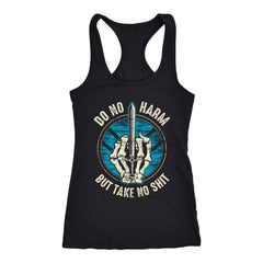 Teelaunch, Do no harm, FrontT-shirt[Heathen By Nature authentic Viking products]Next Level Racerback TankBlackXS