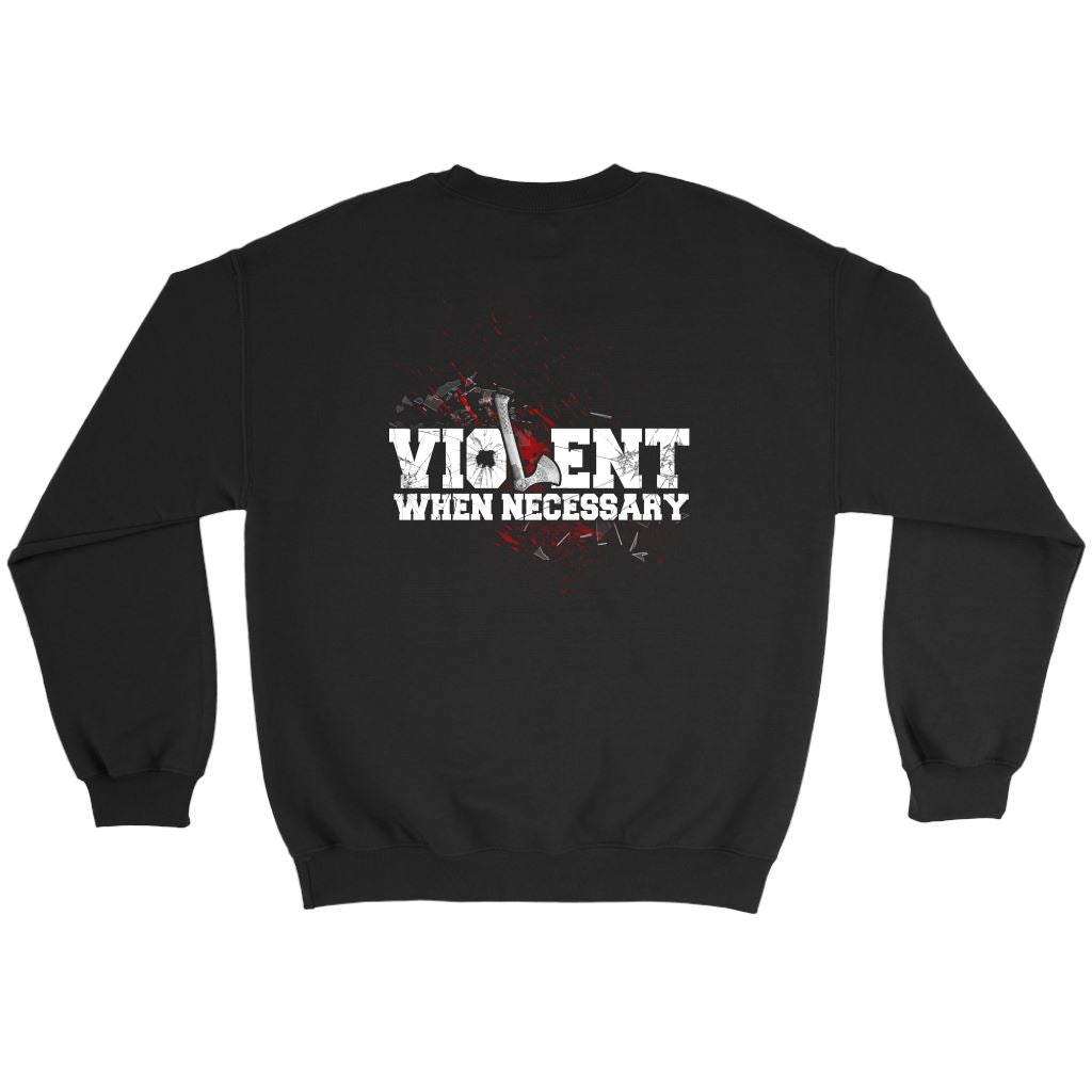 teelaunch,, frontT-shirt[Heathen By Nature authentic Viking products]Crewneck SweatshirtBlackS