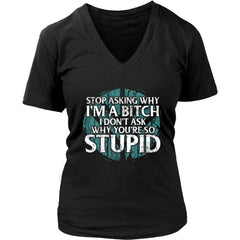 Teelaunch, I'm A Bitch, FrontT-shirt[Heathen By Nature authentic Viking products]District Womens V-NeckBlackS
