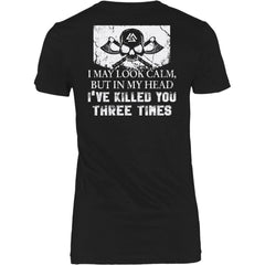 Teelaunch, look calm, double sidedT-shirt[Heathen By Nature authentic Viking products]