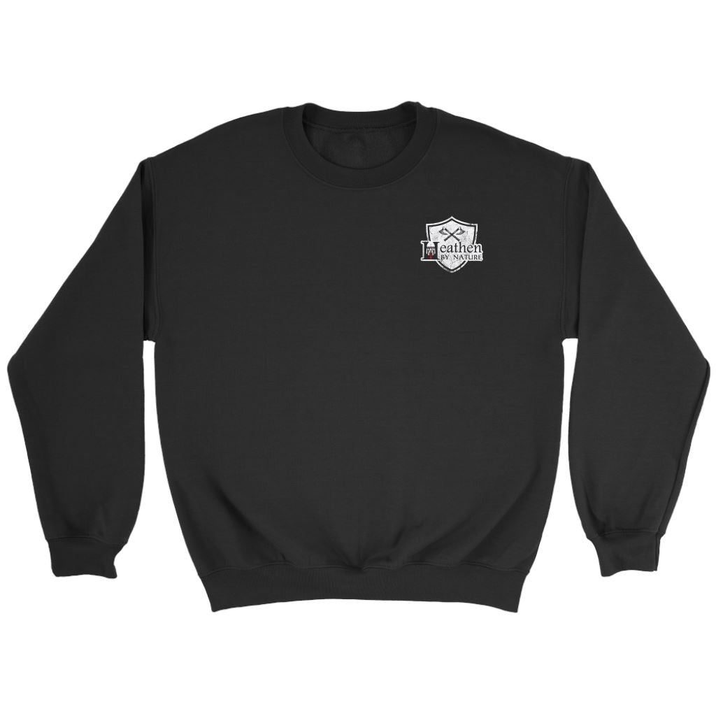 Teelaunch, look calm, double sidedT-shirt[Heathen By Nature authentic Viking products]Crewneck SweatshirtBlackS