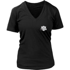 Teelaunch, look calm, double sidedT-shirt[Heathen By Nature authentic Viking products]District Womens V-NeckBlackS