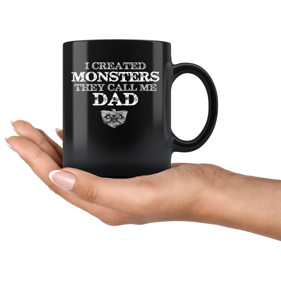 Teelaunch Mug, I created monsters, BlackDrinkware[Heathen By Nature authentic Viking products]