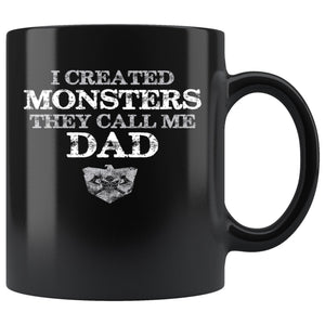 Teelaunch Mug, I created monsters, BlackDrinkware[Heathen By Nature authentic Viking products]Teelaunch Mug, I created monsters, Black